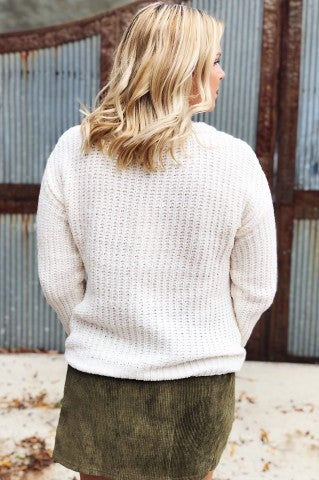 Ocean Breaths Sweater - Ivory