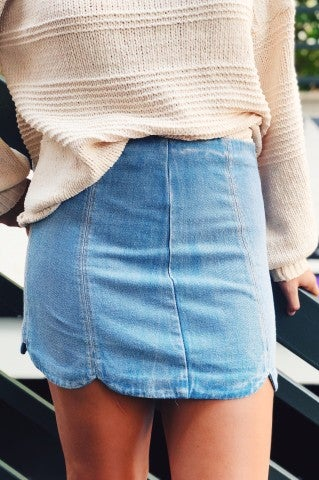 Tulip Denim Skirt