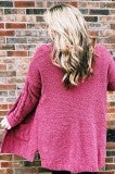 Cozy Cardigan Plus - Burgundy