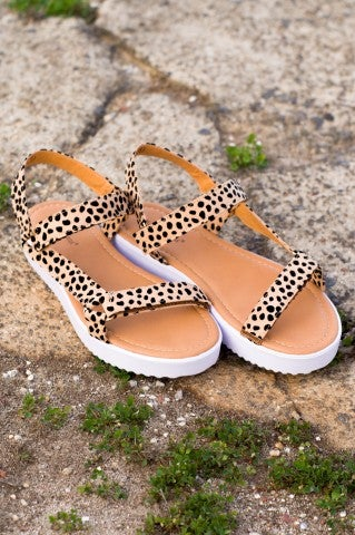 Say My Name Leopard Sandals