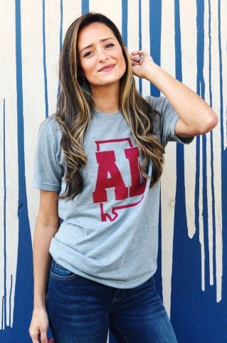 AL State Outline Tee