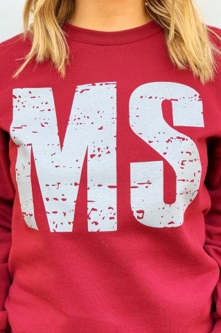 MS Sweatshirt - Maroon
