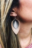 Leather Faux Earrings