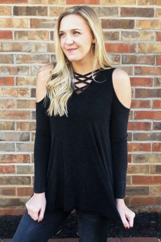 DoorBuster - Cold Shoulder Top