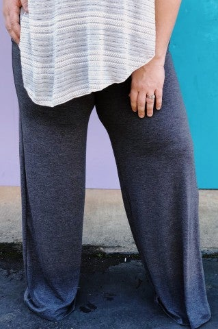 Lazy Day Pants Plus- Charcoal