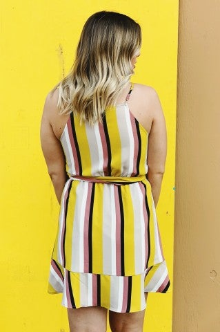 The Stripe Of Colors Dress