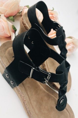 Monterey Bay Wedge- Black
