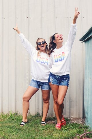 USA Rainbow Sweatshirt