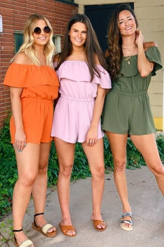 People Like Us Off The Shoulder Romper