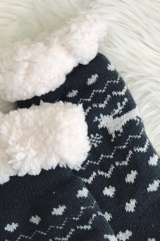 Doorbuster- Grey Slipper Socks