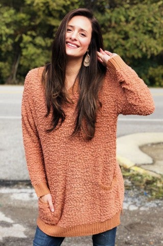 Feel The Chill Sweater - Camel