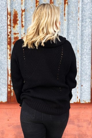 Keeping It Out Sweater - Black