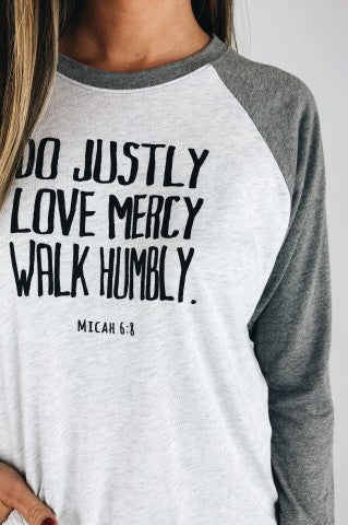 Do Justly Baseball Tee