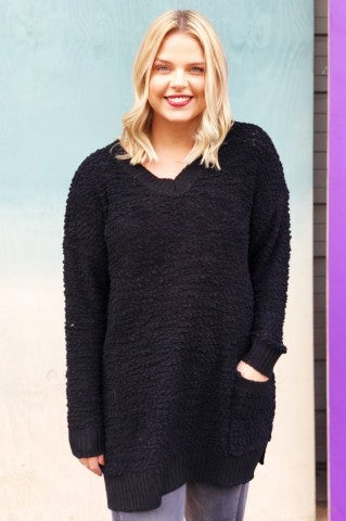 Feel The Chill Sweater - Black