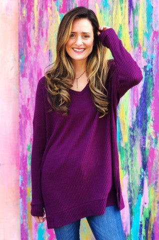 The Bemis Top - Plum
