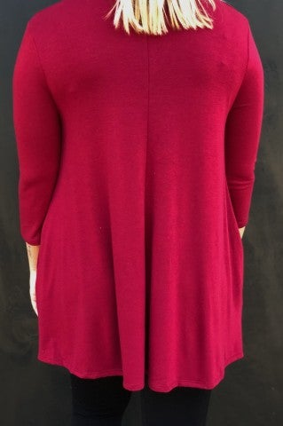 Tranquility Top- Crimson