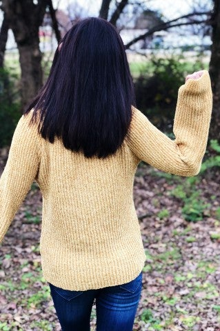 Pop It Sweater - Mustard