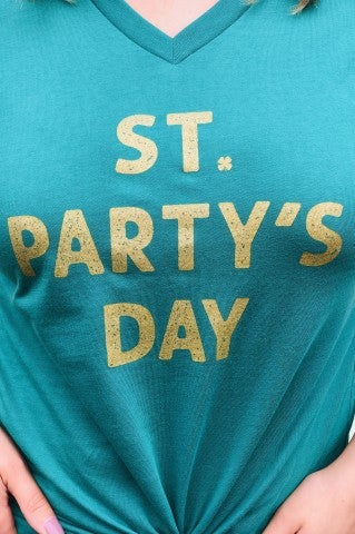 St. Party's Day V-Neck Tee