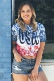 USA Flag Tie Dye Tee - Adult