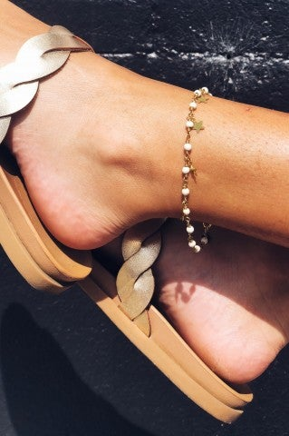 Starry Night Anklet- White