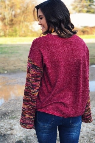 Come On Eileen Sweater - Burgundy