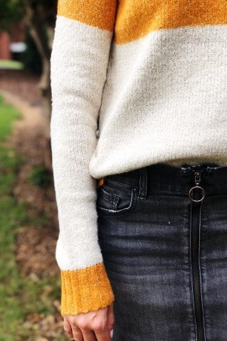 The Smokies Sweater - Mustard