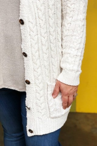 The Cozy Sweater Plus - White
