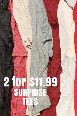 2 For $11.99 Surprise Tee Grab Bag