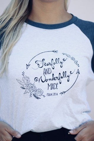 Fearfully and Wonderfully Made Baseball Tee