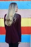 Dawn Of Time Top - Burgundy
