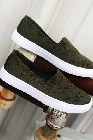 Doorbuster - Evelyn Slip on -Olive