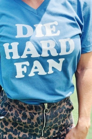 Die Hard Fan Tee - Blue