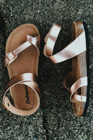Ocean City Sandal - Rose Gold