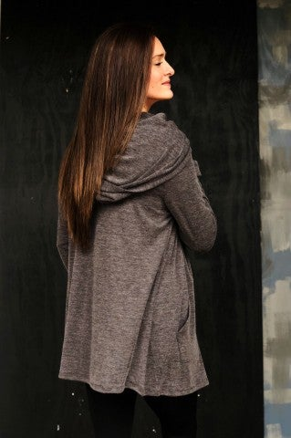 The Double Cardi - Grey