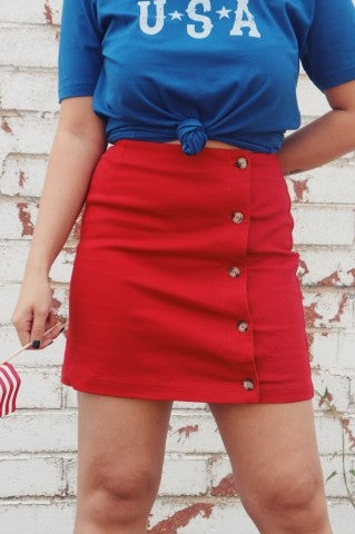 Paint The Town Red Skirt