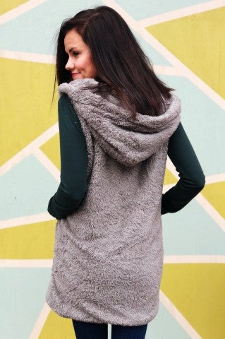 Rough Around The Edges Vest - Grey