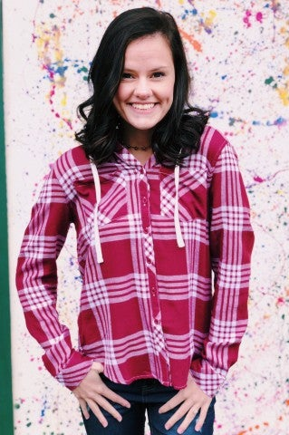 Doorbuster- New Rules Hooded Flannel