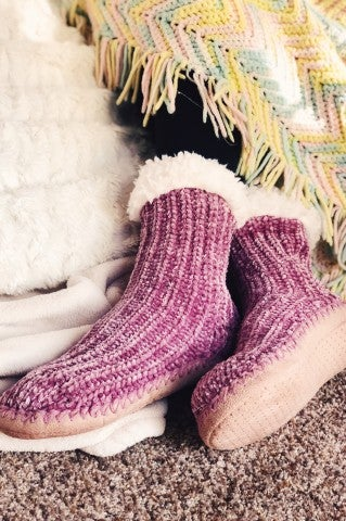 Doorbuster- It's A Wonderful Life Slippers- Lavender