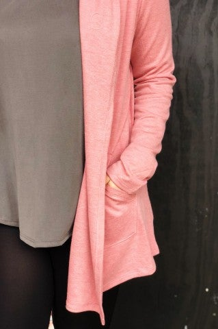 The Double Cardi - Pink