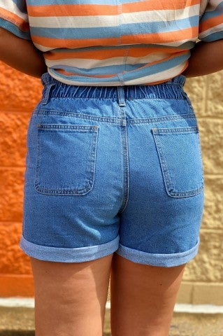 Feeling Blue Denim Shorts