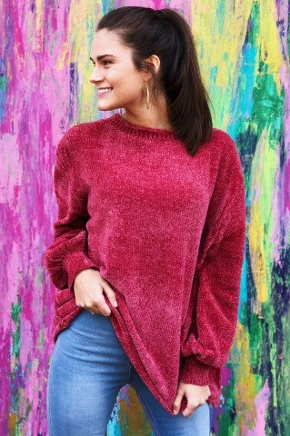 Jeannie Sweater- Dusty Cedar
