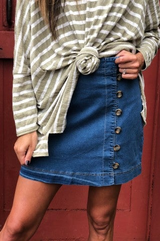Waiting Game Denim Skirt