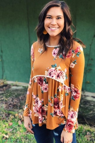 The Rose Top - Mustard