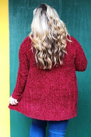 The Cozy Sweater Plus - Red