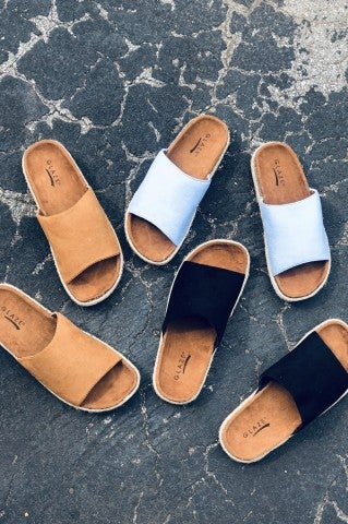 Cool Again Suede Slides
