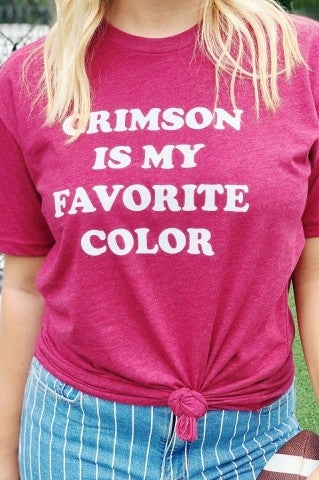 Crimson Is My Fav Color Tee