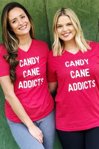 Candy Cane Addicts Tee