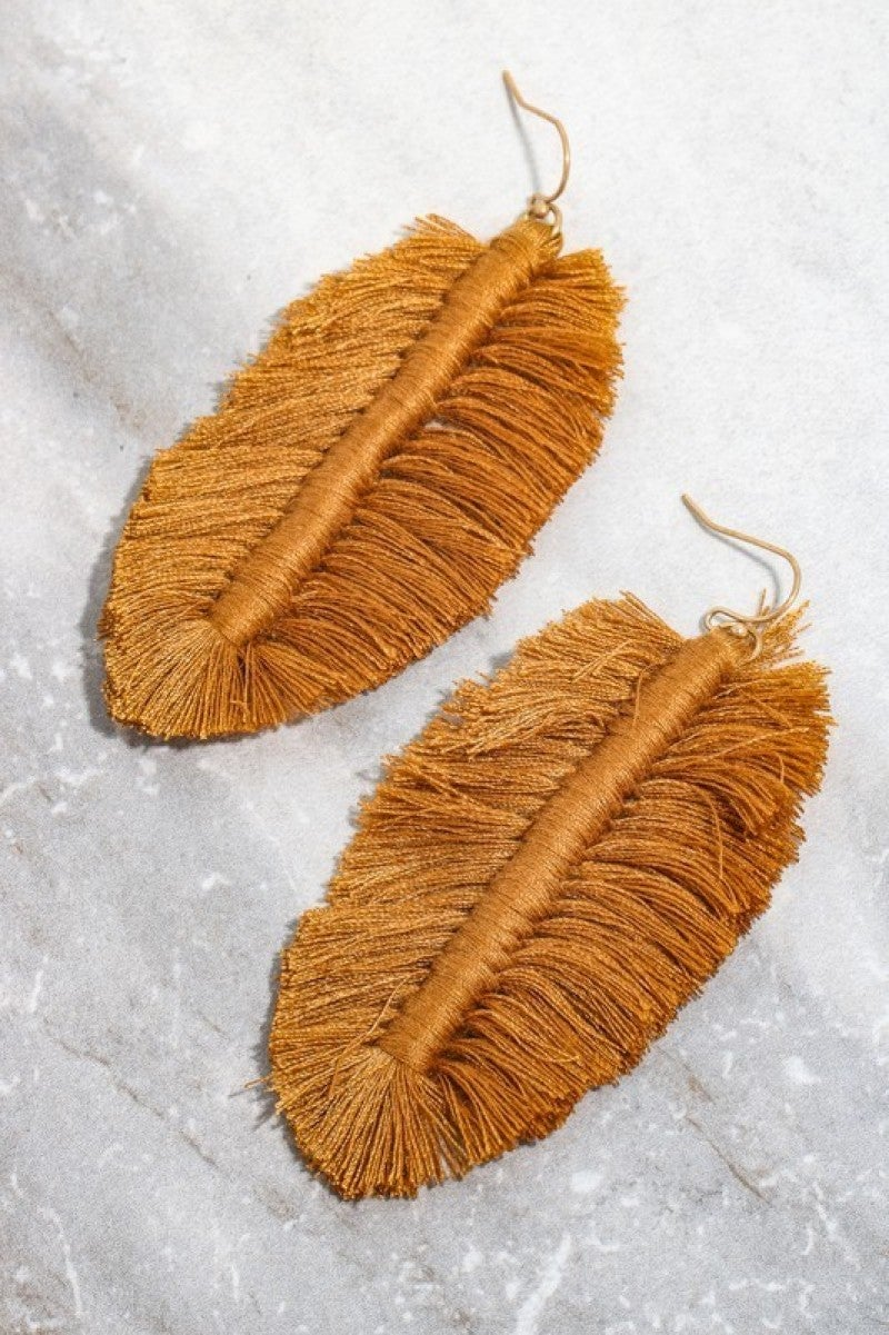 Love These Forever Leaf Fringe Earrings - Multiple Colors