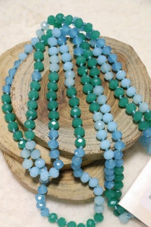 Point Of Perfection Beaded Necklace in Ocean Foam