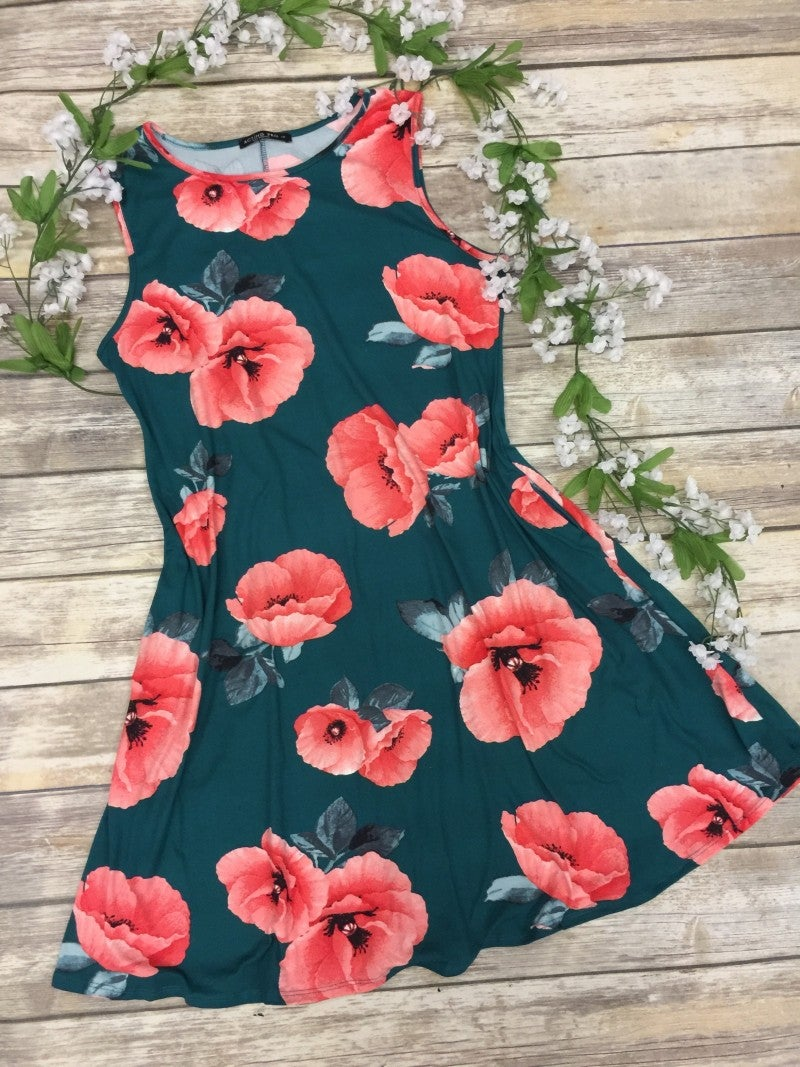 Beautiful Girl Floral Sleeveless Dress - Sizes 12-20